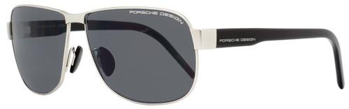 Porsche Design Rectangular Sunglasses P8633 D Ruthenium/Black 8633