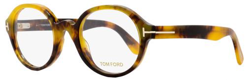 Tom Ford Round Eyeglasses TF5490 056 Size: 51mm Honey Havana FT5490