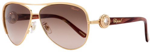 Chopard Aviator Sunglasses SCHA60S 08MG Copper-Gold/Burgundy A60