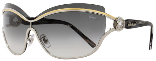 Chopard Aviator Sunglasses SCHA61S 0544 Semi-Matte Black A61