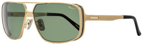 Chopard Rectangular Sunglasses SCHA80 383P Gold/Black Polarized A80