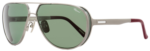 Chopard Aviator Sunglasses SCHA81M K10P Gunmetal/Burgundy Polarized A81