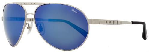 Chopard Aviator Sunglasses SCHB01 S80P Satin Palladium Polarized B01