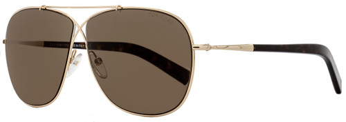 Tom Ford Square Sunglasses TF393 April 28J Rose Gold/Havana FT0393
