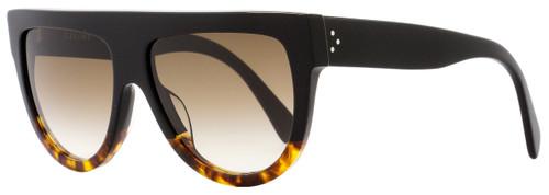 Celine Square Sunglasses CL41026S FU55I Black/Tortoise 41026