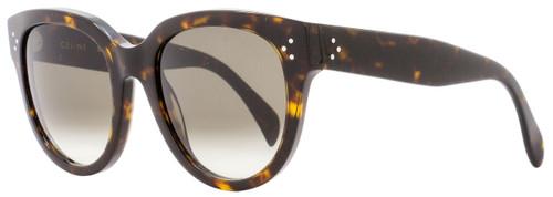 Celine Oval Sunglasses CL41755S 086Z3 Dark Havana 41755