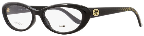 Gucci Oval Eyeglasses GG3566 W6Z Size: 52mm Black 3566
