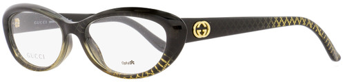Gucci Oval Eyeglasses GG3566 W8H Size: 52mm Black/Gold Patterned 3566