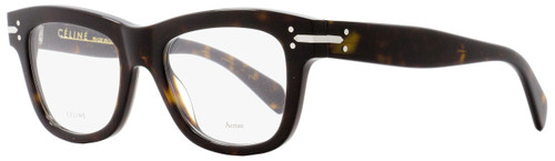 Celine Square Eyeglasses CL41335 086 Size: 50mm Dark Havana 41335