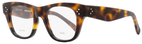 Celine Square Eyeglasses CL41361 AEA Size: 47mm Havana/Black 41361
