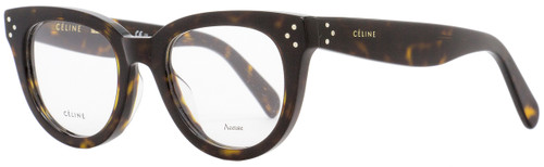 Celine Oval Eyeglasses CL41379 086 Size: 47mm Dark Havana 41379
