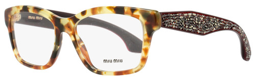 Miu Miu Rectangular Eyeglasses VMU01O UBR-1O1 Size: 52mm Light Havana/Burgundy 01OV