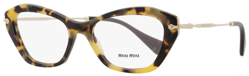 Miu Miu Cateye Eyeglasses VMU04L HAN-1O1 Size: 52mm Matte Havana/Gold/Brown 04LV