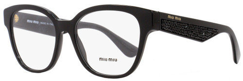 Miu Miu Oval Eyeglasses VMU06O 1AB-1O1 Size: 52mm Shiny Black 06OV
