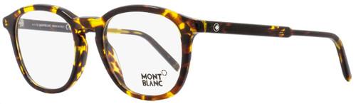 Montblanc Oval Eyeglasses MB613 055 Size: 50mm Vintage Havana 613