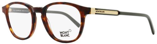 Montblanc Oval Eyeglasses MB632 A56 Size: 50mm Dark Havana/Green/Bronze 632