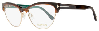Tom Ford Cateye Eyeglasses TF5365 052 Size: 54mm Havana/Gold FT5365