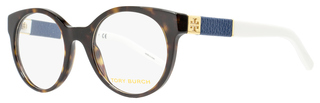 Tory Burch Oval Eyeglasses TY2050Q 1365 Size: 49mm Havana/Ivory 2050