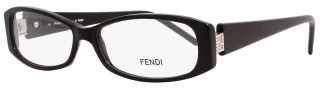 Fendi Rectangular Eyeglasses F597R 001 Size: 52mm Shiny Black 597