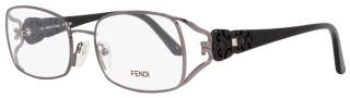 Fendi Rectangular Eyeglasses F872 035 Size: 54mm Gunmetal/Black 872
