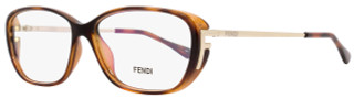 Fendi Oval Eyeglasses F969 238 Size: 55mm Havana 969