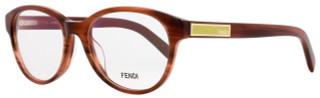 Fendi Oval Eyeglasses F979 232 Size: 51mm Striped Brown 979