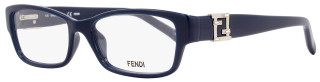 Fendi Rectangular Eyeglasses F1015R 424 Size: 52mm Dark Blue 1015