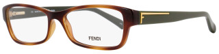 Fendi Rectangular Eyeglasses F1037 218 Size: 52mm Blonda Havana/Green 1037