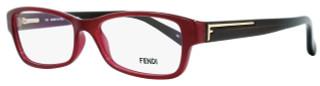 Fendi Rectangular Eyeglasses F1037 603 Size: 52mm Bordeaux/Brown 1037