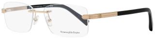 Ermenegildo Zegna Rimless Eyeglasses EZ5010 028 Size: 56mm Rose Gold/Black 5010