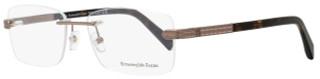 Ermenegildo Zegna Rimless Eyeglasses EZ5010 034 Size: 56mm Bronze/Dark Havana 5010