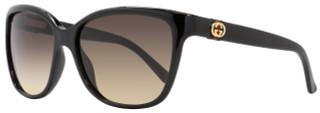 Gucci Rectangular Sunglasses GG3645S D28ED Shiny Black 3645