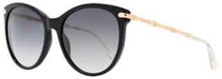 Gucci Oval Sunglasses GG3771S HQWVK Black/Gold 3771