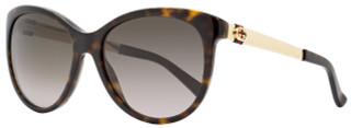 Gucci Oval Sunglasses GG3784S ANTHA Havana/Gold 3784