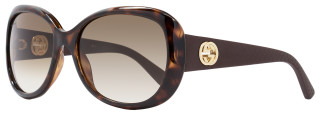 Gucci Oval Sunglasses GG3787S LWFCC Dark Havana/Brown/Gold 3787