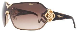 Chopard Shield Sunglasses SCH999S 0300 Rose Gold/Havana 999
