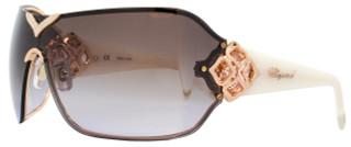 Chopard Shield Sunglasses SCH999S 8FCX Copper Gold/Ivory 999