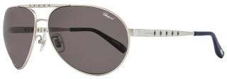 Chopard Aviator Sunglasses SCHB01M S80Z Satin Palladium Polarized B01
