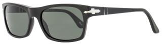 Persol Rectangular Sunglasses PO3037S 95/58 Size: 57 mm Shiny Black Polarized 3037
