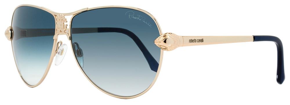 Roberto Cavalli Aviator Sunglasses RC883S Markab 28W Rose Gold/Turquoise 883