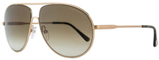 Tom Ford Aviator Sunglasses TF450 Cliff 28F Rose Gold/Havana FT0450