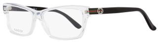 Gucci Rectangular Eyeglasses GG3562 MNG Size: 55mm Crystal/Black 3562