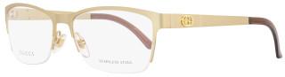 Gucci Semi-Rimless Eyeglasses GG4236 82O Size: 54mm Semi-Matte Gold 4236