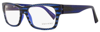 Alain Mikli Rectangular Eyeglasses A01320 B08G Size: 53mm Blue Herringbone 1320