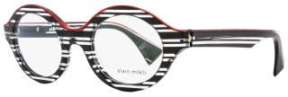 Alain Mikli Oval Eyeglasses A03020 B0E3 Size: 48mm Striped Black 3020