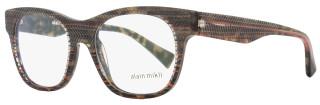Alain Mikli Wayfarer Eyeglasses A03025 B0D8 Size: 51mm Brown/Gray/Orange Striped 3025