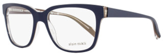 Alain Mikli Square Eyeglasses A03034 M0JV Size: 53mm Navy Blue/Clear 3034
