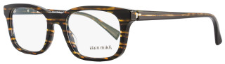Alain Mikli Rectangular Eyeglasses A03039 2891 Size: 50mm Black/Brown Striped 3039