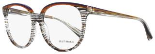 Alain Mikli Oval Eyeglasses A03050 E006 Size: 55mm Striped Multi-Color 3050