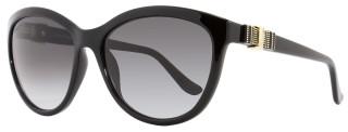 Salvatore Ferragamo Oval Sunglasses SF760S 001 Size: 57mm Shiny Black 760